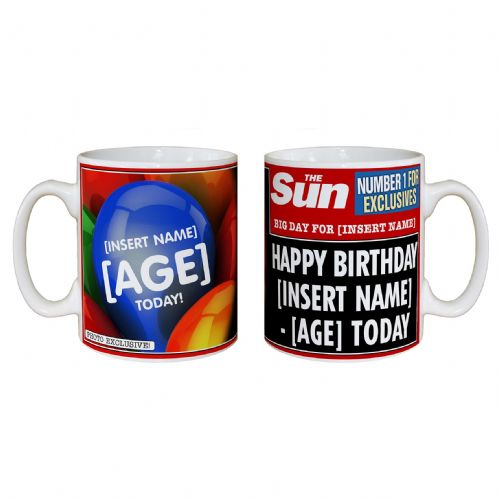 Personalised The Sun Birthday Mug
